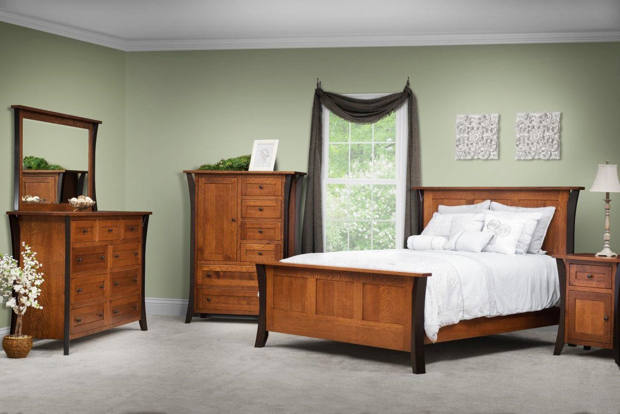 Allegheny Amish Queen Bedroom Group by Amish Furniture at Ruby Gordon Home