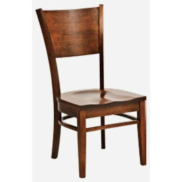 Americana Side Chair - Leather Seat by Amish Impressions by Fusion Designs at Mueller Furniture