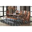 Amish Impressions by Fusion Designs Asher 5-PC Table & Chair Set - Item Number: ASH-DIN