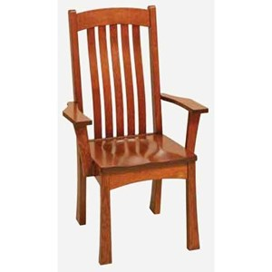 Morris Home Furnishings Brigham Arm Chair - Wood Seat
