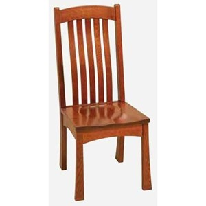 Morris Home Furnishings Brigham Side Chair - Wood Seat