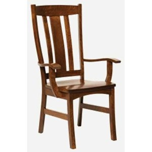 Amish Impressions by Fusion Designs Castlebrook Arm Chair - Wood Seat