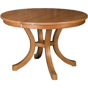 "Morris Home Furnishings Charleston 60"" Round Single Pedestal Table"