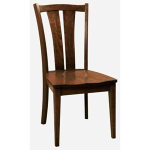 Morris Home Charleston Sedona Side Chair - Leather Seat