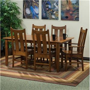 "Morris Home Furnishings Classic 7 pc. 60x60"" Table and Chairs Set"