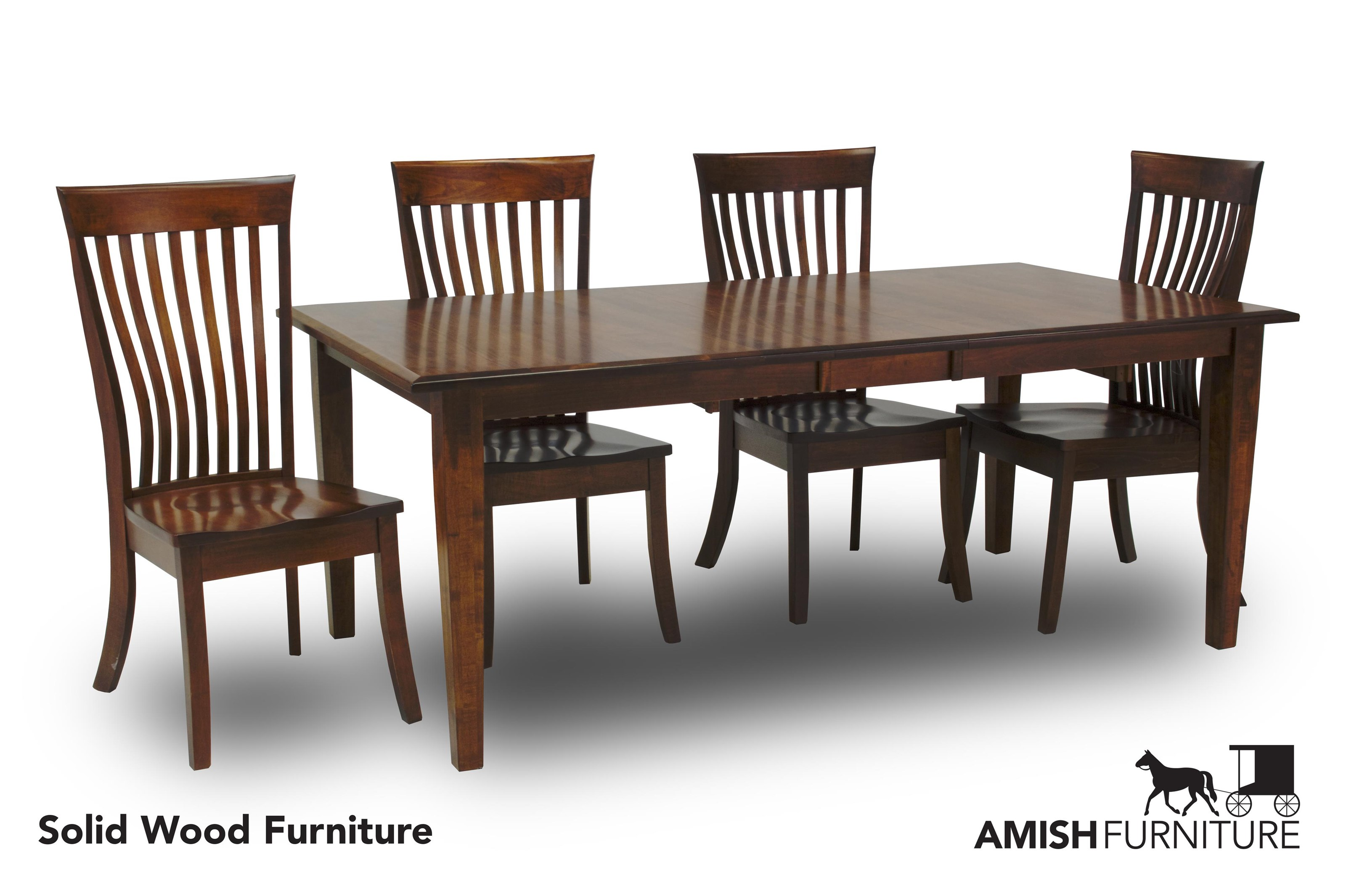 Amish Impressions By Fusion Designs Classic 5 Piece Dining Set   Item  Number: DCLAS