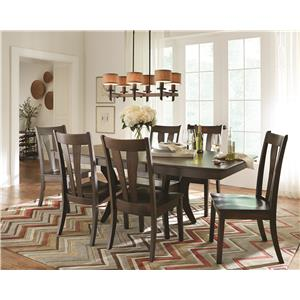 Morris Home Furnishings Covina Covina 5-Piece Solid Maple Dining Set