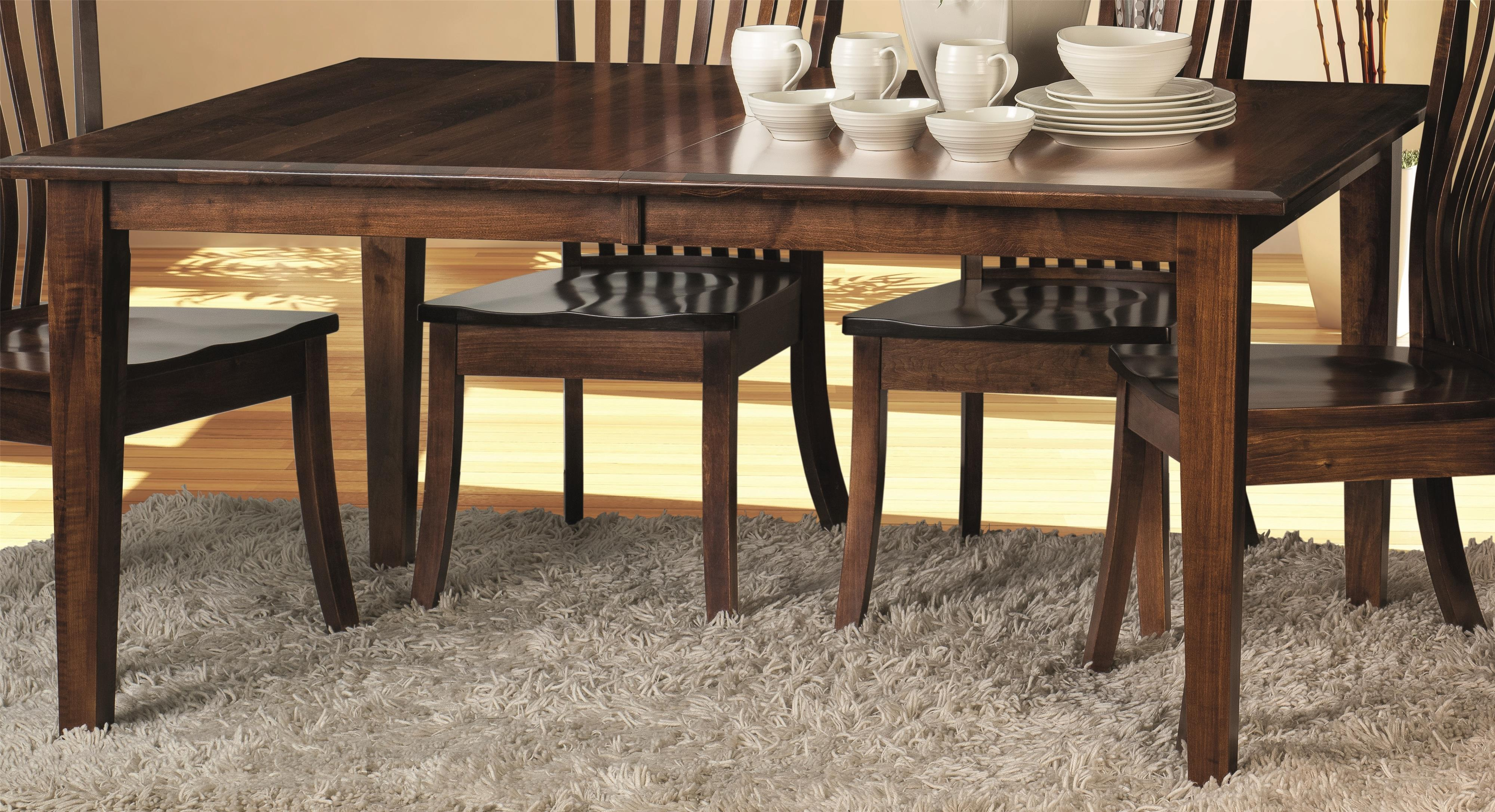 Morris Home Classic Classic Dining Table Top & Base - Item Number: CCTB4266-2LF-03-30-TM-EB-SS/L10