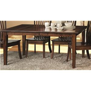 Morris Home Furnishings Crescent-1 Crescent Dining Table Top & Base