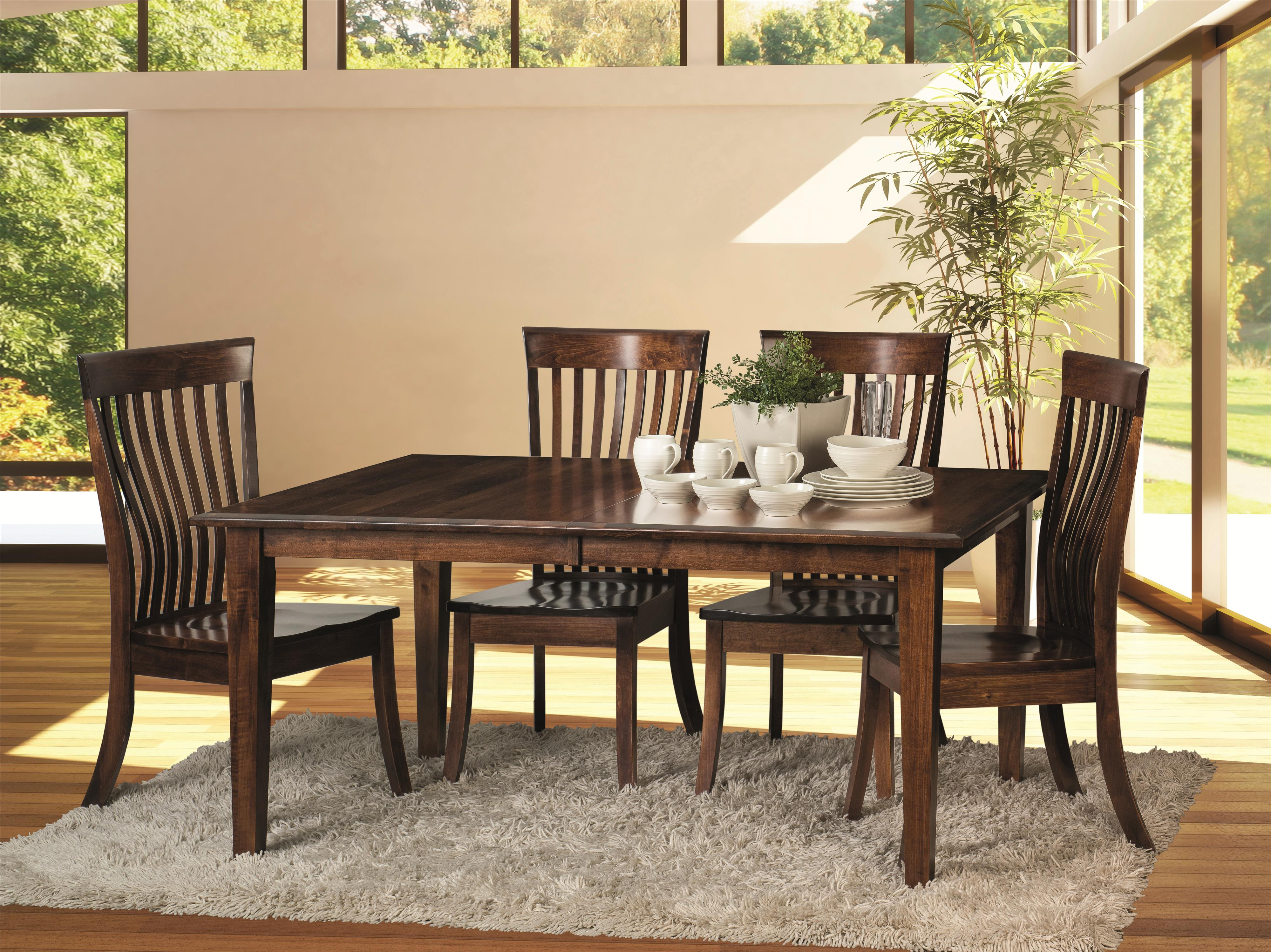 Morris Home Furnishings Crescent-1 Crescent 5 Piece Dining Room Set - Item Number: CCTB4266-KCSCW-03-30