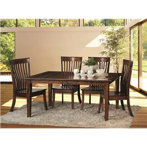 Morris Home Furnishings Crescent-1 Crescent 5 Piece Dining Room Set