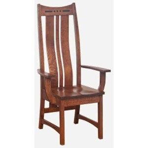 Morris Home Furnishings Hayworth Arm Chair - Leather Seat