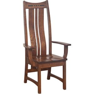 Amish Impressions by Fusion Designs Hayworth High Back Arm Chair