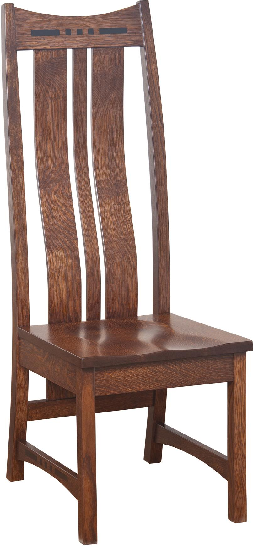Hayworth High Back Side Chair by Amish Impressions by Fusion Designs at Mueller Furniture