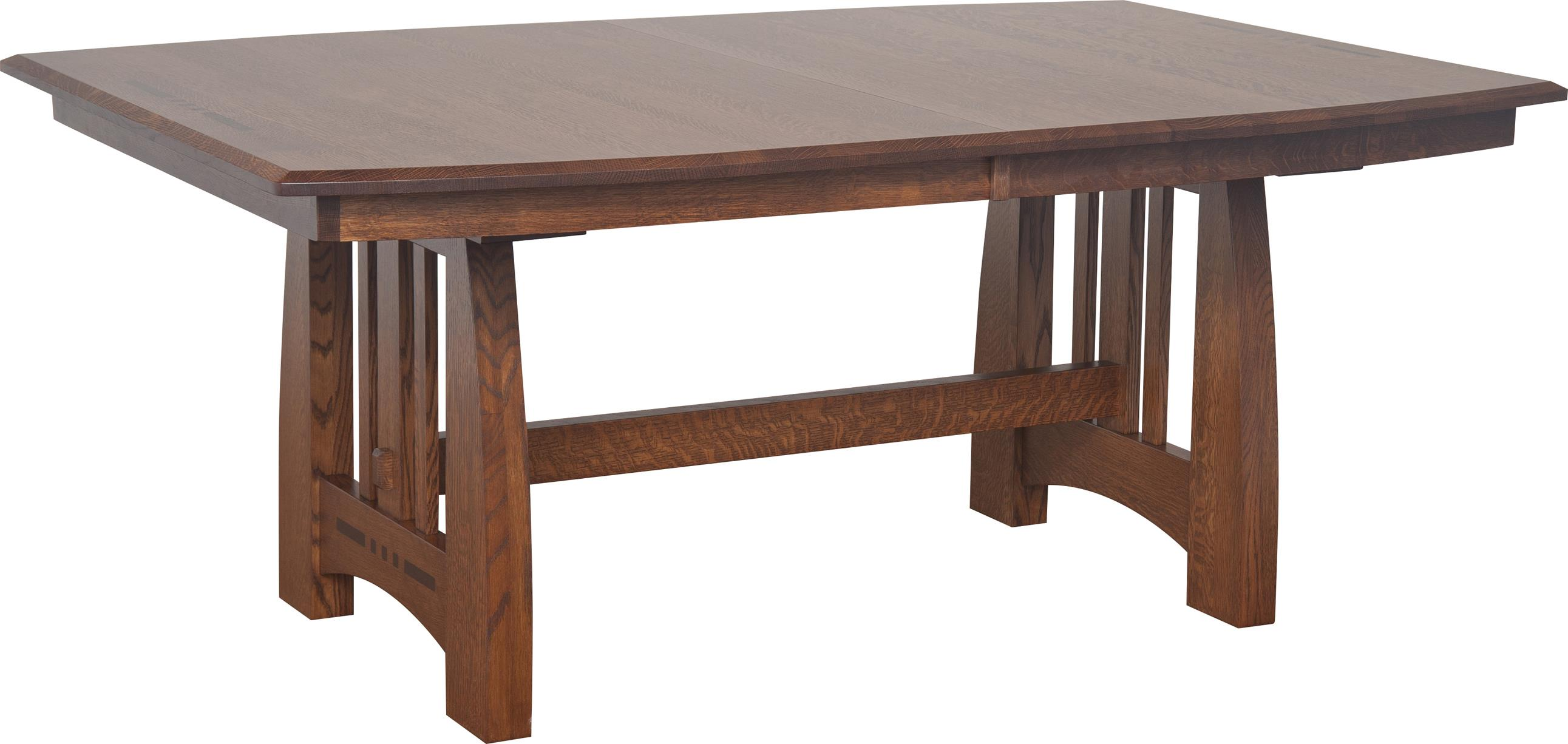 Incredible Owen Amish Dining Table With Two 12 Leaves By Indiana Amish At Walkers Furniture Home Interior And Landscaping Ologienasavecom