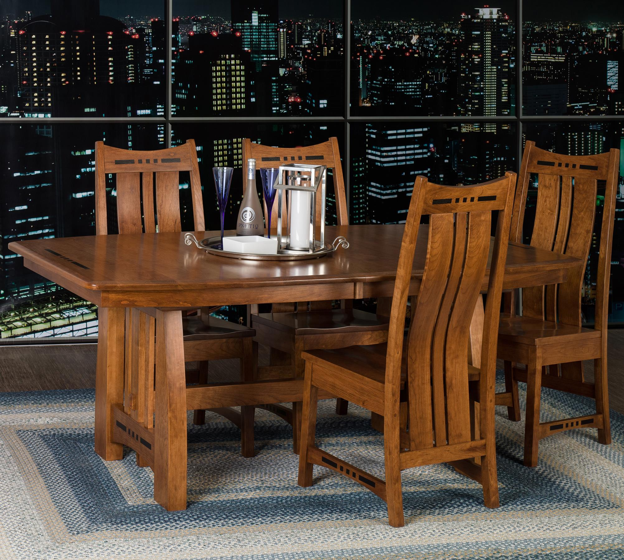 Admirable Amish Impressions By Fusion Designs Hayworth 5 Piece Dining Beutiful Home Inspiration Ommitmahrainfo
