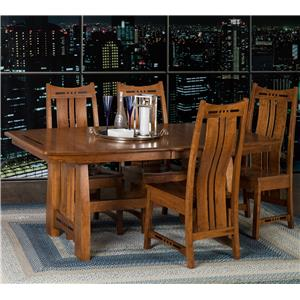 Amish Impressions by Fusion Designs Hayworth 5 Piece Dining Set
