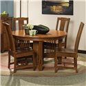 "Morris Home Furnishings Hawley 5 pc. 54"" Table and Chairs Set - Item Number: HDTB54+4xGNSCW-XX"
