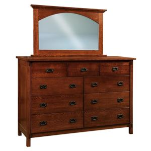 Morris Home Furnishings Savannah Dresser and Mirror