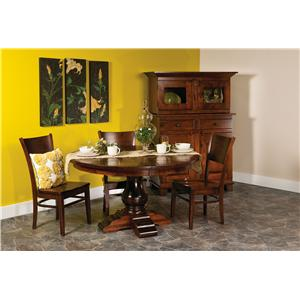 "Morris Home Furnishings Wellington 5 pc 48"" Round Table and Chairs Set"