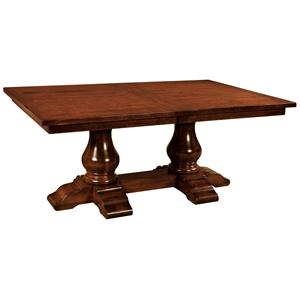 "Morris Home Furnishings Wellington 60"" Wide Trestle Table"