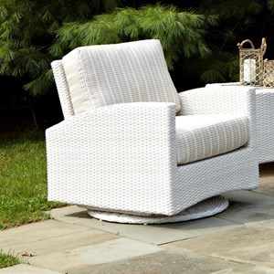 Atlantis Swivel Glider Chair with Cushions and Track Arms by Anacara Company