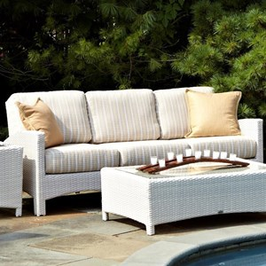 Atlantis Woven Outdoor Sofa with Track Arms by Anacara Company