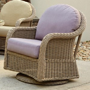 Mariner Woven Swivel Glider Chair by Anacara Company