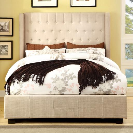65 Queen Upholstered Bed by Anna Christina Designs at Dream Home Interiors