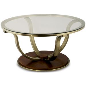 Anthony of California 220 Metal Cocktail Table w/ Glass Top