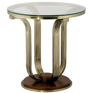 Anthony of California 220 Metal End Table w/ Glass Top
