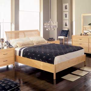 AP Industries Sorrento Full/Double Low Profile Shuttered Sleigh Bed