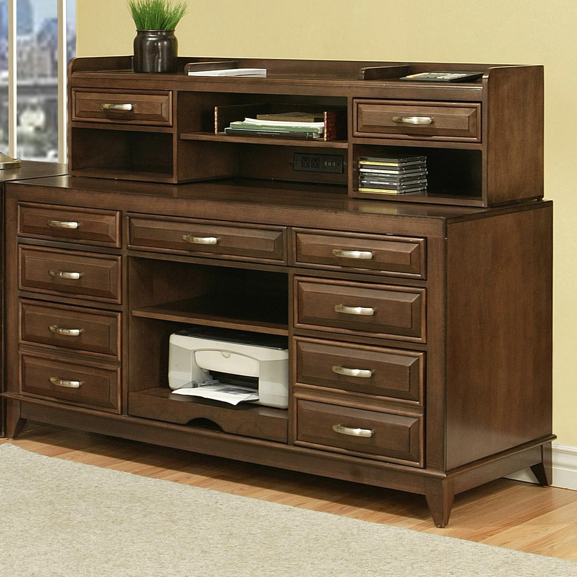 """Albany 60"""" Workcenter & Hutch at Sadler's Home Furnishings"""
