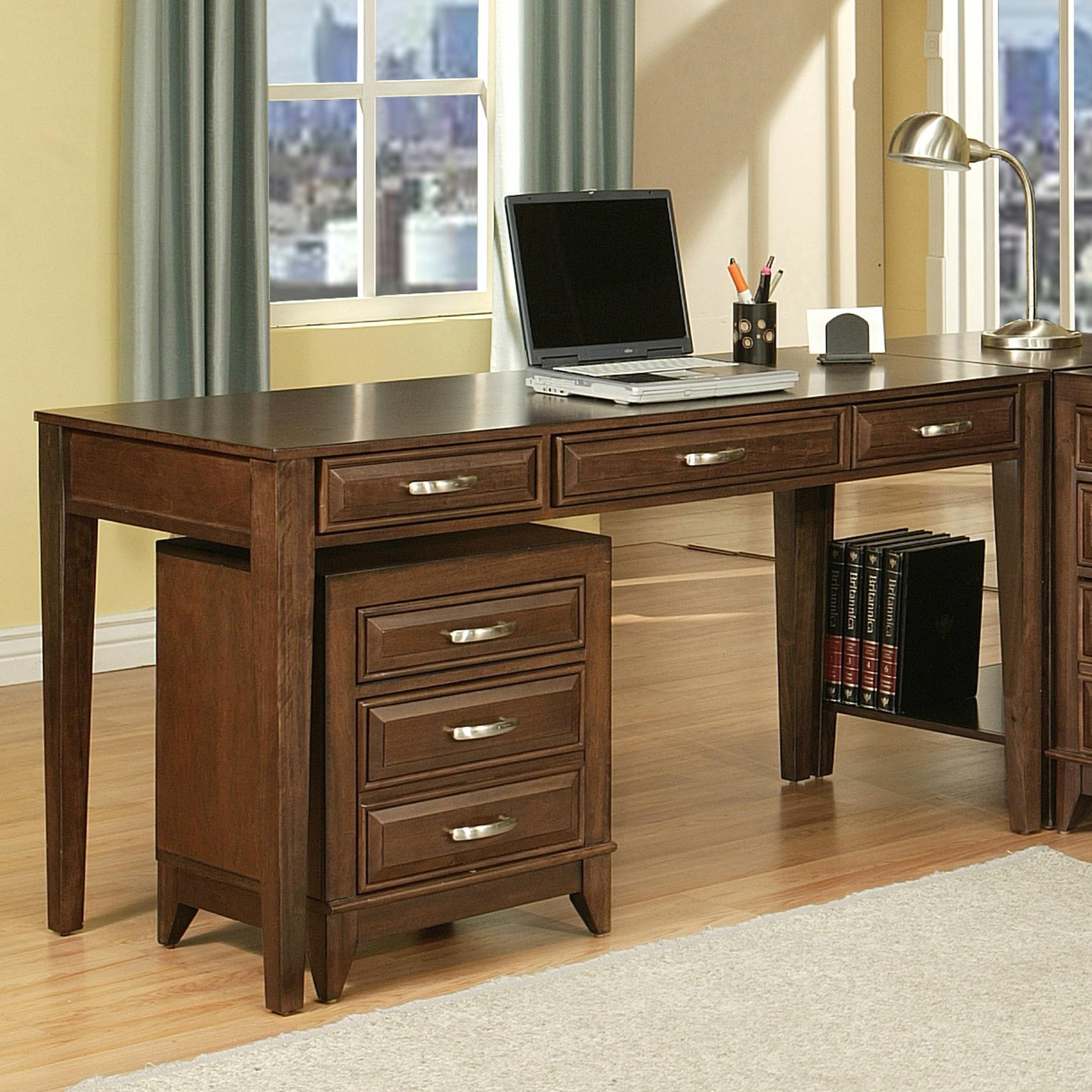"Albany 3 Drawer 60"" Writing Desk at Sadler's Home Furnishings"
