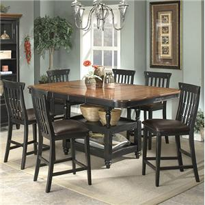 Apa By Whalen Clearbrook 7 Piece Counter Height Dining Set