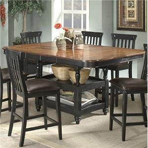 APA By Whalen Clearbrook Counter Height Table W/ Butterfly Leaf