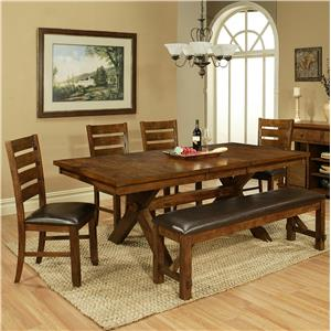 APA by Whalen Vineyard 6 Piece Table and Chair Set