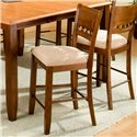 APA by Whalen Camden 5-Hole Back Barstool w/ Upholstered Seat