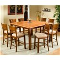 APA by Whalen Camden 5-Hole Back Barstool w/ Upholstered Seat - Shown as part of table set