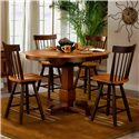 APA by Whalen Camden Shaker Style Swivel Barstool - Shown as part of counter height table set
