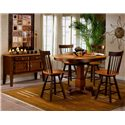APA by Whalen Camden Shaker Style Swivel Barstool - Shown with server