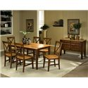 APA by Whalen Camden 7-Piece Table Set - Shown with server