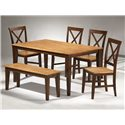 APA by Whalen Camden Wood Dining Bench - Shown as part of table set