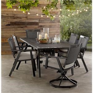 Dining Table, 4 Chairs, 2 Swivel Chair