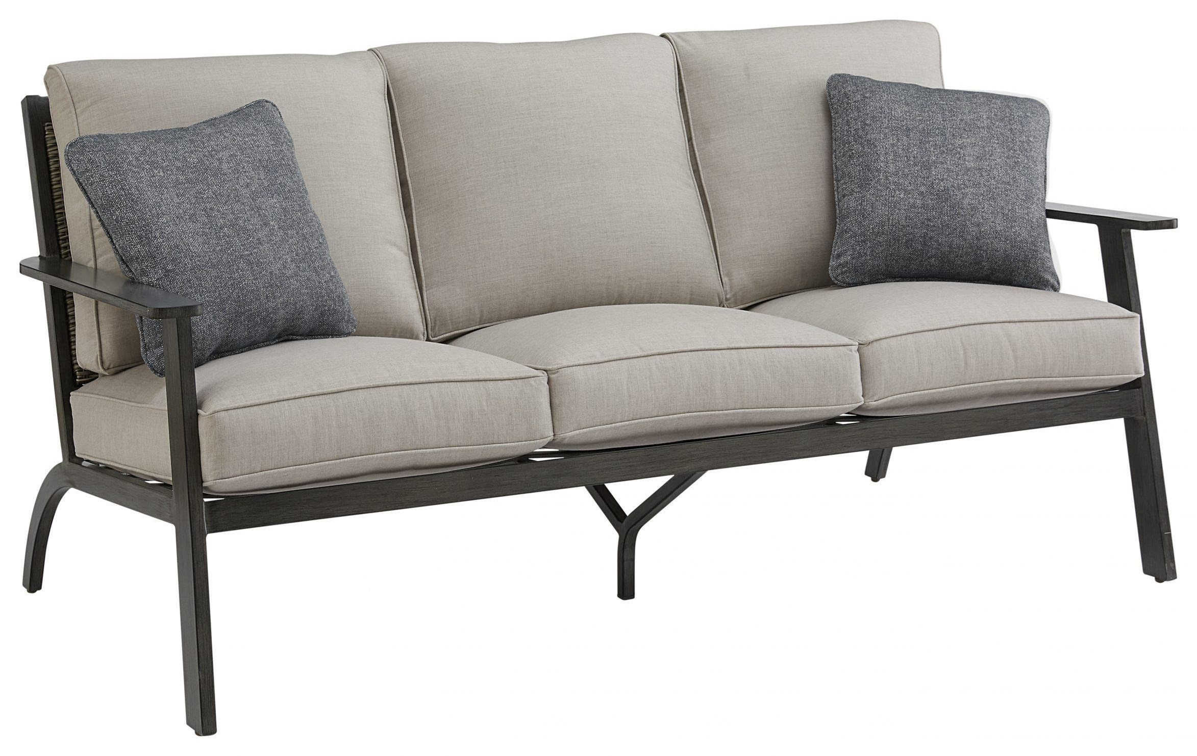Adison Sofa with 2 Pillow by Apricity Outdoor at Johnny Janosik