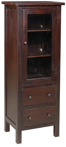 Archbold Furniture Allwood Accents Hardwood Display Armoire: Espresso - Item Number: 577710