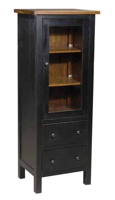 Archbold Furniture Allwood Accents Hardwood Display Armoire: Black & Toast - Item Number: 577711