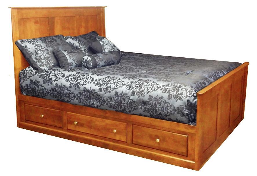 Archbold Furniture Custom Amish King Storage Bed - Item Number: 60463H-KB