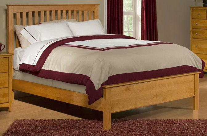 Archbold Furniture Custom Amish Queen Slat Bed - Item Number: 61293H-QB