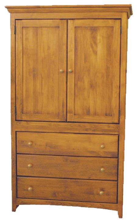 Archbold Furniture Custom Amish Armoire - Item Number: 6166H-W